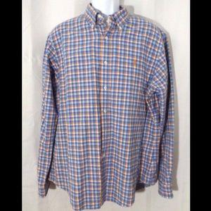 RALPH LAUREN Men's Shirt Button-Front 2-Layer